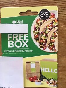 HELLO FRESH Gift Card Voucher FIRST BOX FREE
