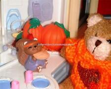 Dollhouse Miniature Indian Eating Pie Merry Miniature Thanksgiving Decoration