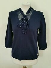 Women's 3/4 Sleeve Cotton Blend Spotted Jumpers & Cardigans