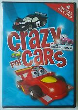 CRAZY FOR CARS COLLECTION 2 DVD - 4 Animated Cars & Trucks Movies *Sealed*