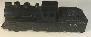 Marx Toys Sparkling Friction R.R. Train Locomotive 242 (Black) Made In USA