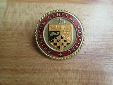 Brighton General Hospital vintage enamel nurse hospital badge
