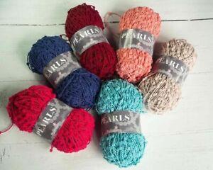 *NEW * Stylecraft PEARLS Knitting/crochet Yarn Wool 100g /patterns mini pom-pom