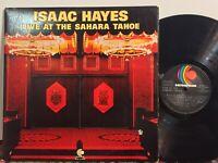 Isaac Hayes Live At The Sahara Tahoe EX 2LP ORIG DIE-CUT EMBOSSED GATEFOLD