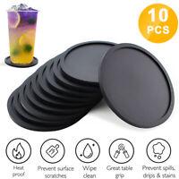10 Pack Premium Silicone Non-slip Hot Drink Coasters Place Mat Coffee Tea Mug