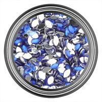 Dark Blue Oval Rhinestone Gems Flatback Face Art Nail Art Scrapbook Phone 3mm