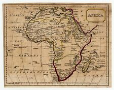 Nice small map of Africa. 1815. Hand coloring.