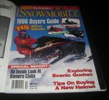 Vintage Snowmobile Magazine polaris yamaha ski doo Kawasaki arctic cat 1995
