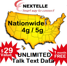 1st Month Pre-Loaded Nextelle Mobile Sim Card with $29 Plan