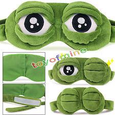 Cartoon grenouille triste sommeil Cute Fluff 3D yeux masque pour dormir voyage