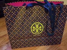 Tory Burch Paper Shopping Bag, Navy Orange Green 16 x 12 x 6d