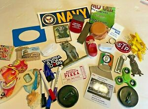 3 LBS LOT OF JUNK DRAWER COLLECTIBLES - VRS ADVERTISING ETC Vintage Lot