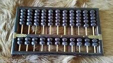 VINTAGE ROSEWOOD LOTUS FLOWER BRAND PEOPLES REPUBLIC OF CHINA ABACUS 77 BEADS
