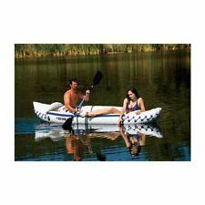 SEA EAGLE 330 Deluxe 2 Person Inflatable Kayak Canoe w/ Paddles & Repair Kit