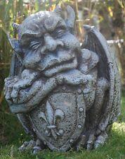 """Gartenfigur """"Gargoyle mit Schild"""" - Garten, Figur, Gargoyle"""