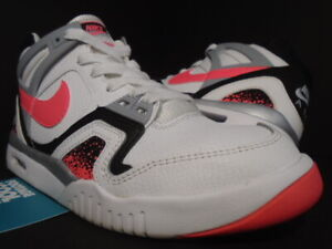 NIKE AIR TECH CHALLANGE II 2 GS WHITE HOT LAVA BLACK INFRARED GREY AGASSI 5Y 5