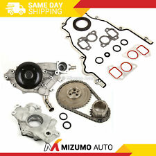 Timing Chain Kit Cover Gasket Water Oil Pump Fit 97-04 GMC Cadillac 4.8 5.3 6.0