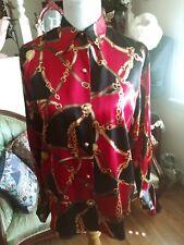 New listing VTG Lauren Ralph LaurenLadies Blouse 100% Silk Equestrian Bridle Horse Size M