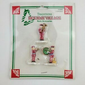 Miniature Christmas Holiday Village Traditions Cloth World Resin Band Figurines
