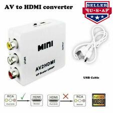NOVPEAK Mini Composite 1080P RCA to HDMI Audio Video CVBS AV Converter for HD TV