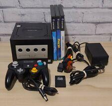 Nintendo Gamecube Black Bundle - 3x Games - Controller- Memory Cars