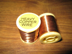 2 Spools V Fly 0.60mm Heavy Copper Wire for all Trout & Salmon Flies