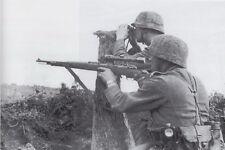 B&W Photo German Sniper Team  Mauser 98 WWII WW2 World War Two Wehrmacht Germany