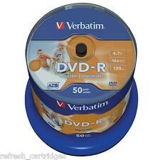 Verbatim DVD-R Imprimible 50 Paquete Torre / 16x VELOCIDAD / 4.7gb Datos