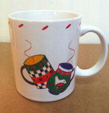 Crate & Barrel Christmas Hot Coco Mug