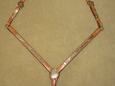 NEW Gorgeous CIRCLE Y Light Oil Show Breast Collar ALPACA SILVER and WAVY BRONZE