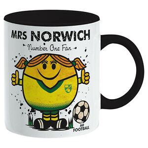 Mrs NORWICH MUG. Gift Boxed. Gift for Woman Present idea for CITY fan football