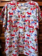 Handmade Scrub...Dogs and Dog Doctors...Cute Print...2 Pockets...Chest - 52""
