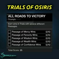 Trials Of Osiris All Roads To Victory Triumph | Xbox Ps4 | Pc Cross Save