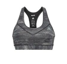 Women's Adidas Techfit Climalite Gray & Black Heather Printed Sports Bra Size XS