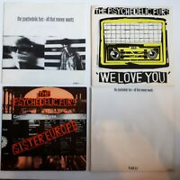 """PSYCHEDELIC FURS: Set of 4 7"""" singles (Money Wants, We Love You, Sister Europe)"""