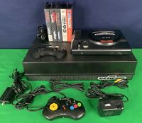 Sega Genesis Console, 2 Controllers, 5 Games & Organizer Tested Working