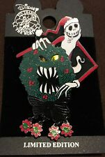 Disney Nightmare Before Christmas Jack Skellington Scary Wreath pin LE