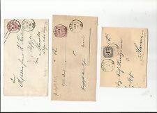 Preussen V. / AHAUS je 2 K2 auf Pr. U26A 1865, auf 2 Reichsp.-Brief-Vorders. m.