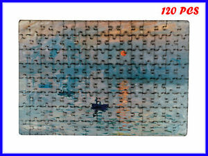 Claude Monet - Impression, Sunrise Art - 120 Piece Jigsaw Puzzle