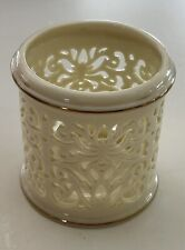 """Lenox Votive candle holder ivory with gold trim 3"""" Tall"""