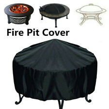 30'' Black Patio Round Fire Pit Cover Waterproof Uv Protector Grill Bbq Shelter