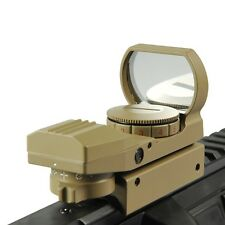 Red Green Sight Scope 4 Reticle Reflex Lens 20mm Dot Laser Air Rifle Gun Hunting