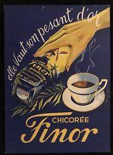 CHICOREE FINOR CARTON PUBLICITAIRE