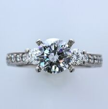 SCOTT KAY Palladium and Diamond 3-Stone Engagement Setting  (Size 4.50) Sizable