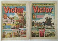 2 x Vintage UK Victor Comics 1984 / 1985