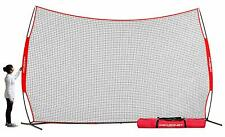 PowerNet 16 ft x 10 ft Sports Barrier Net 160 SqFt of Protection Safety Backstop