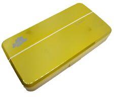 Twin Mustard Coloured Contact Lens Lenses Travel Kit - Mirror - Case - Tweezers