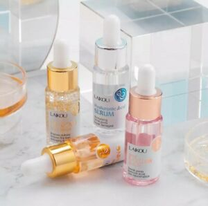24K Gold, Vitamin C, Hyaluronic Acid and Tea Tree Anti Aging Serum Collection