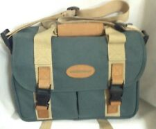 Quantaray Professional Camera Lens Bag Tan Leather Trim