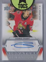 Thomas Chabot 2019-20 UD Series 2 Signature Sensations Ottawa Senators